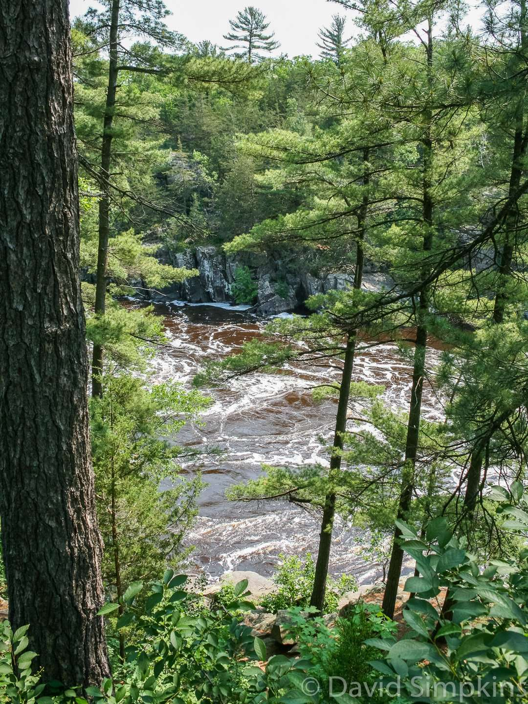 One of many spots on the River Trail where hikers can get a glimpse of the St. Crox River at Interstate State Park