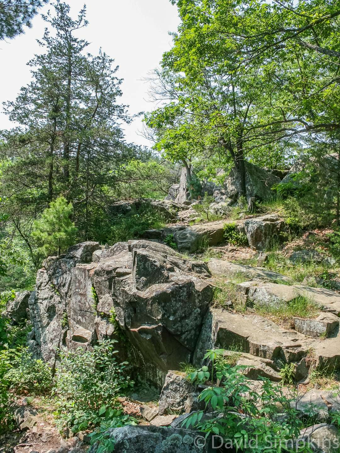 Ancient volcanoes formed the basalt rock formations at Interstate State Park