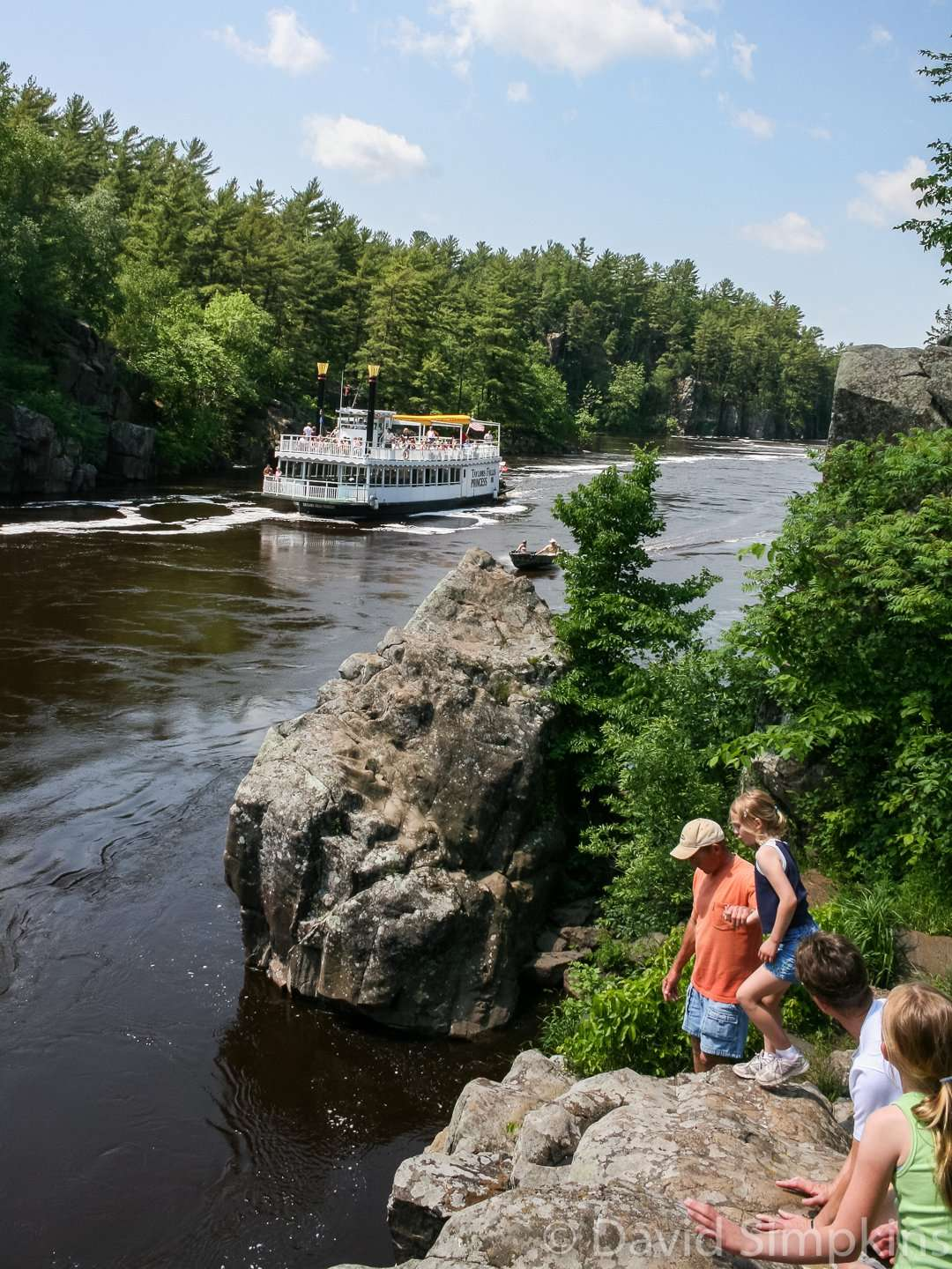 Visitors enjoy watching the riverboats cruise the St. Croix at Interstate State Park