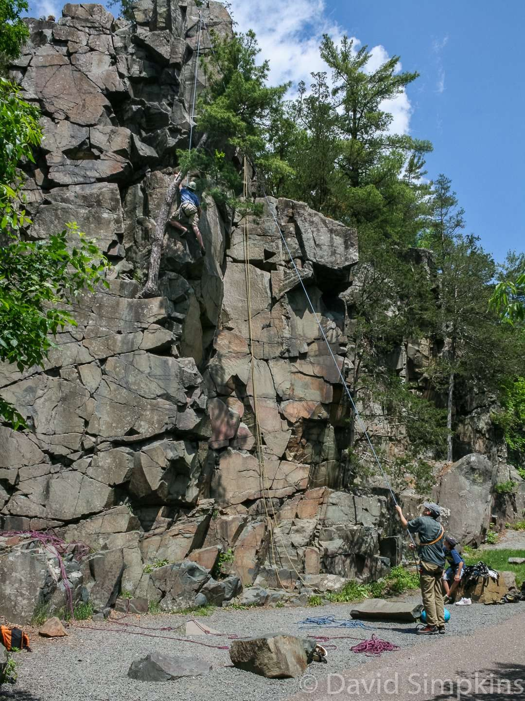 Tourist Rock is a popular climbing destination at Interstate State Park