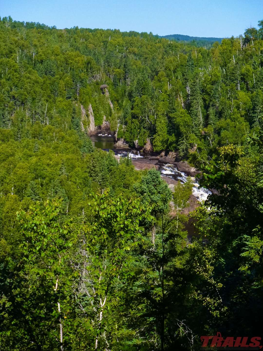 View of the Brule River from a scenic overlookat Judge C.R. Magney State Park
