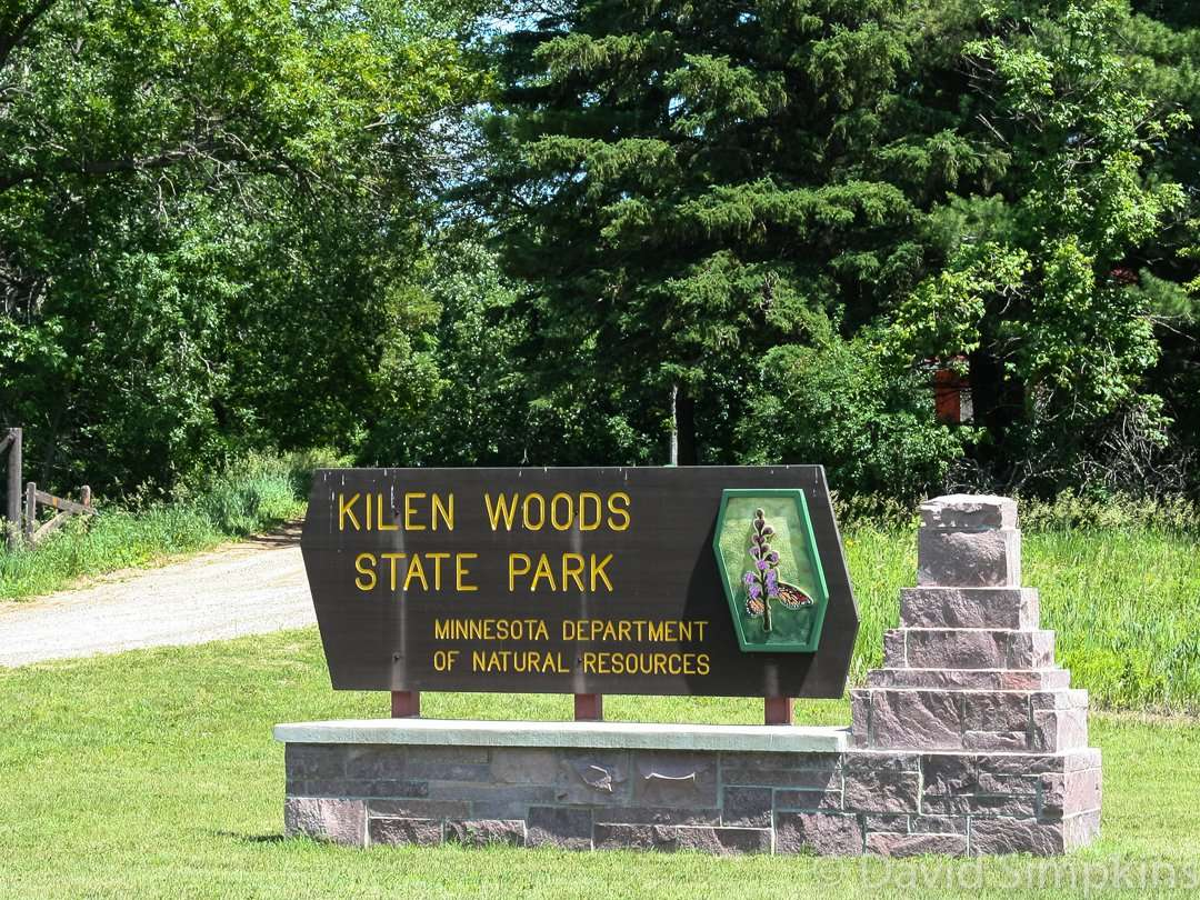 Kilen Woods State Park is located 9 miles northeast of Lakefield in Minnesota's Jackson County