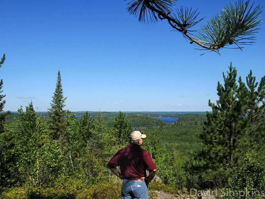 The overlook on Miner's Trail gives a great view of the area at Lake Vermilion-Soudan Underground Mine State Park
