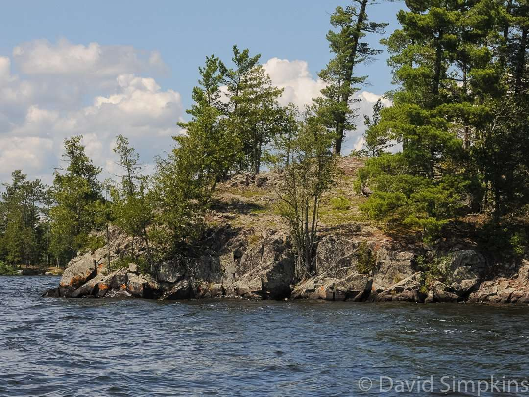 The rugged shores of Lake Vermilion at Lake Vermilion-Soudan Underground Mine State Park