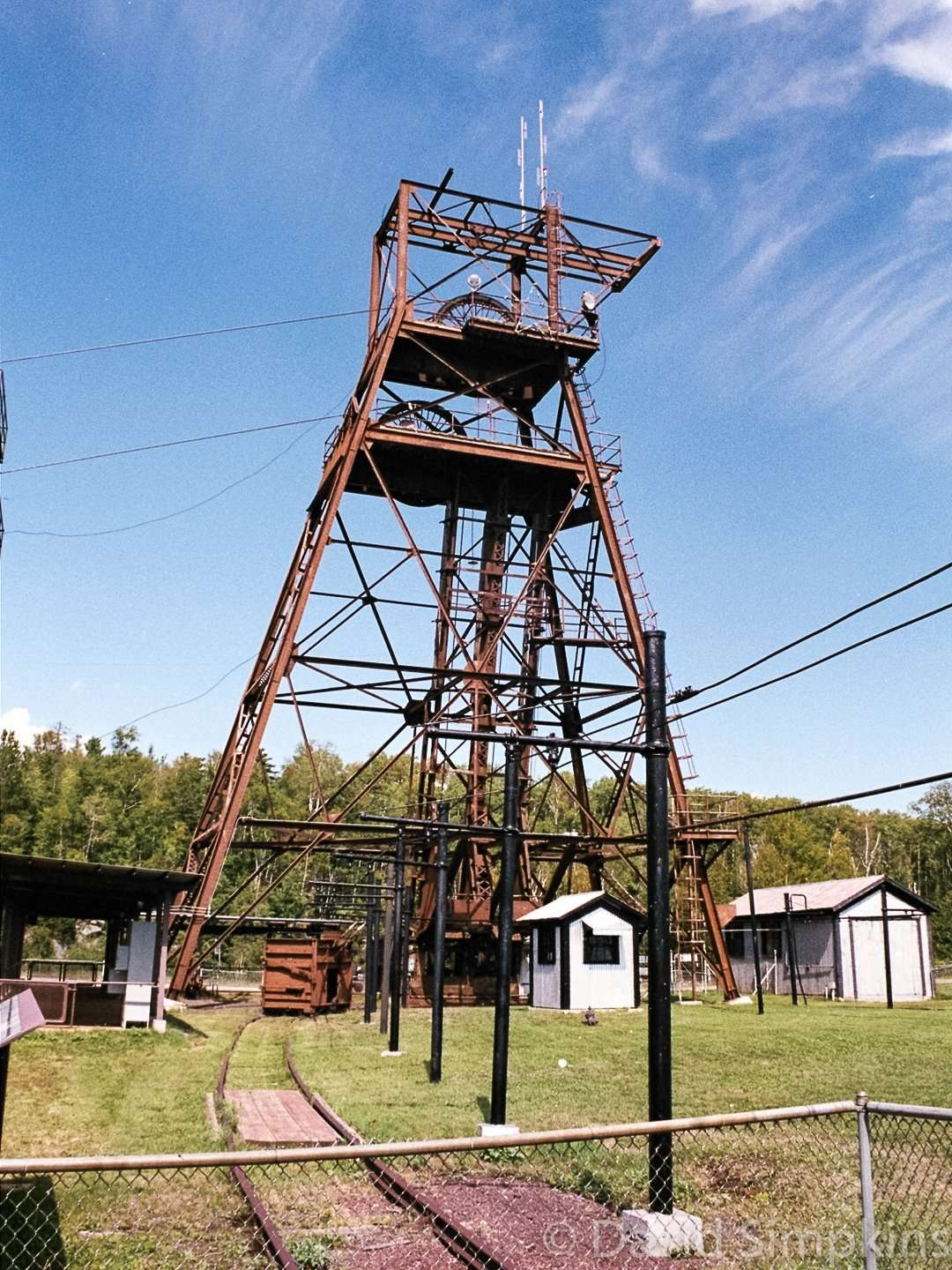 The old headframe of the former US Steel Mine at Lake Vermilion-Soudan Underground Mine State Park