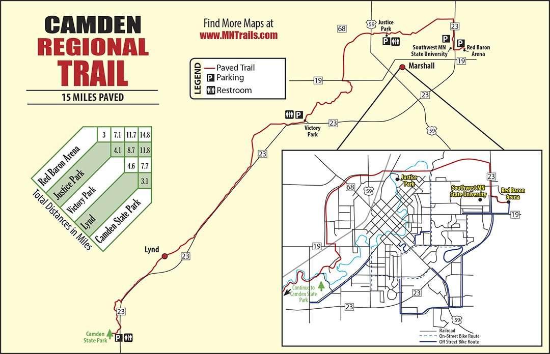 Camden Bike Trail map