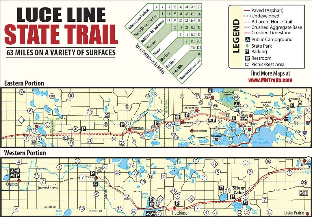 Luce Line State Trail map