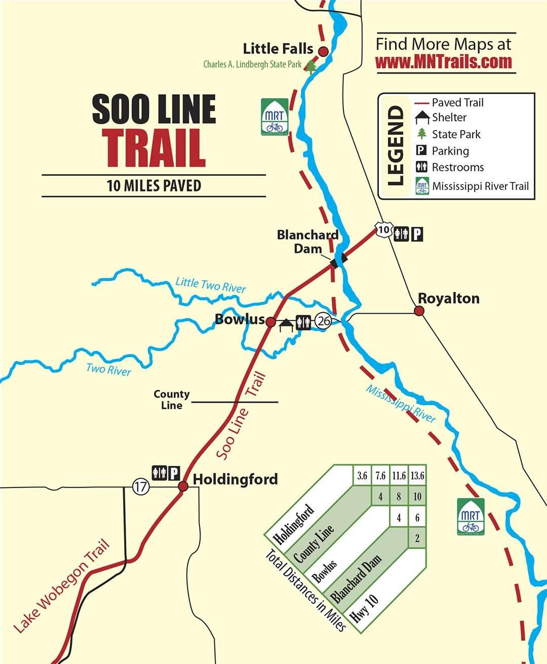 Soo Line Trail map