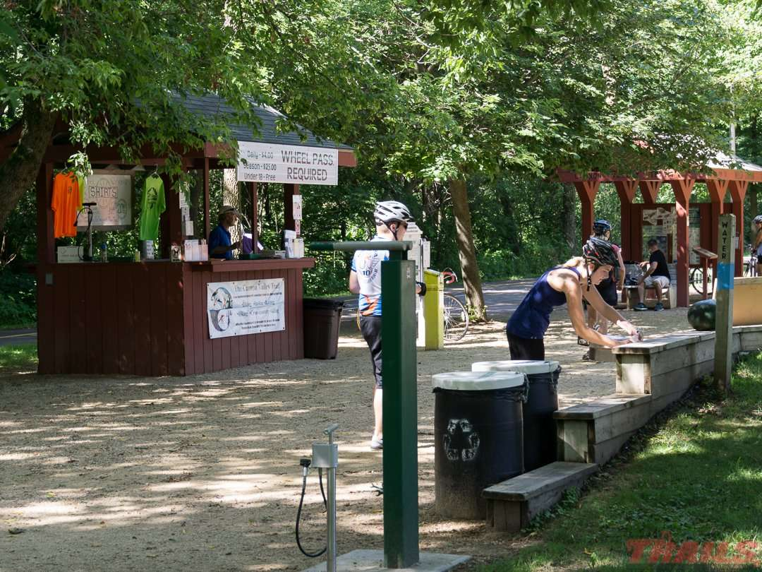 The Welch rest area has lots of amenities on the Cannon Valley Trail