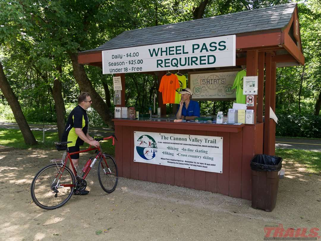 Trail Association volunteers sell t-shirts and trail passes at Welch Station on the Cannon Valley Trail