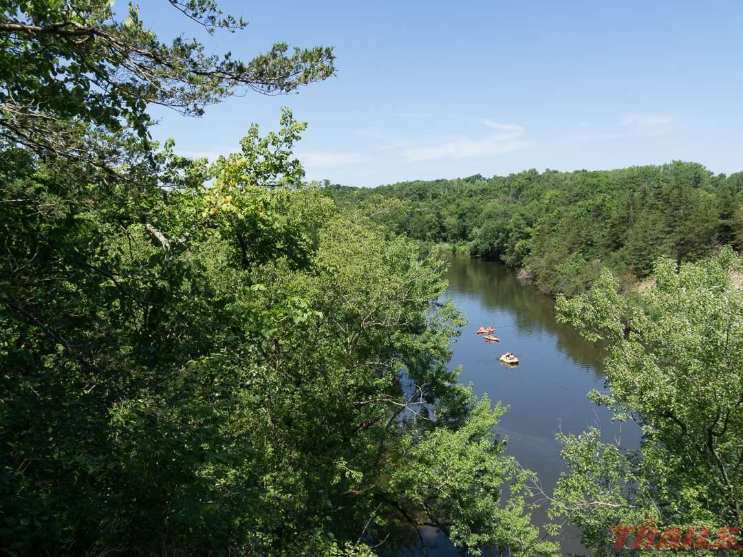 An overlook near Cannon Falls with a great view of the Cannon River on the Cannon Valley Trail