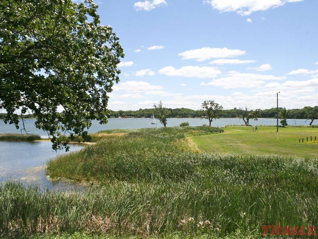 Fergus Falls' DeLagoon Park offers a lake view and amenities on the Central Lakes State Trail