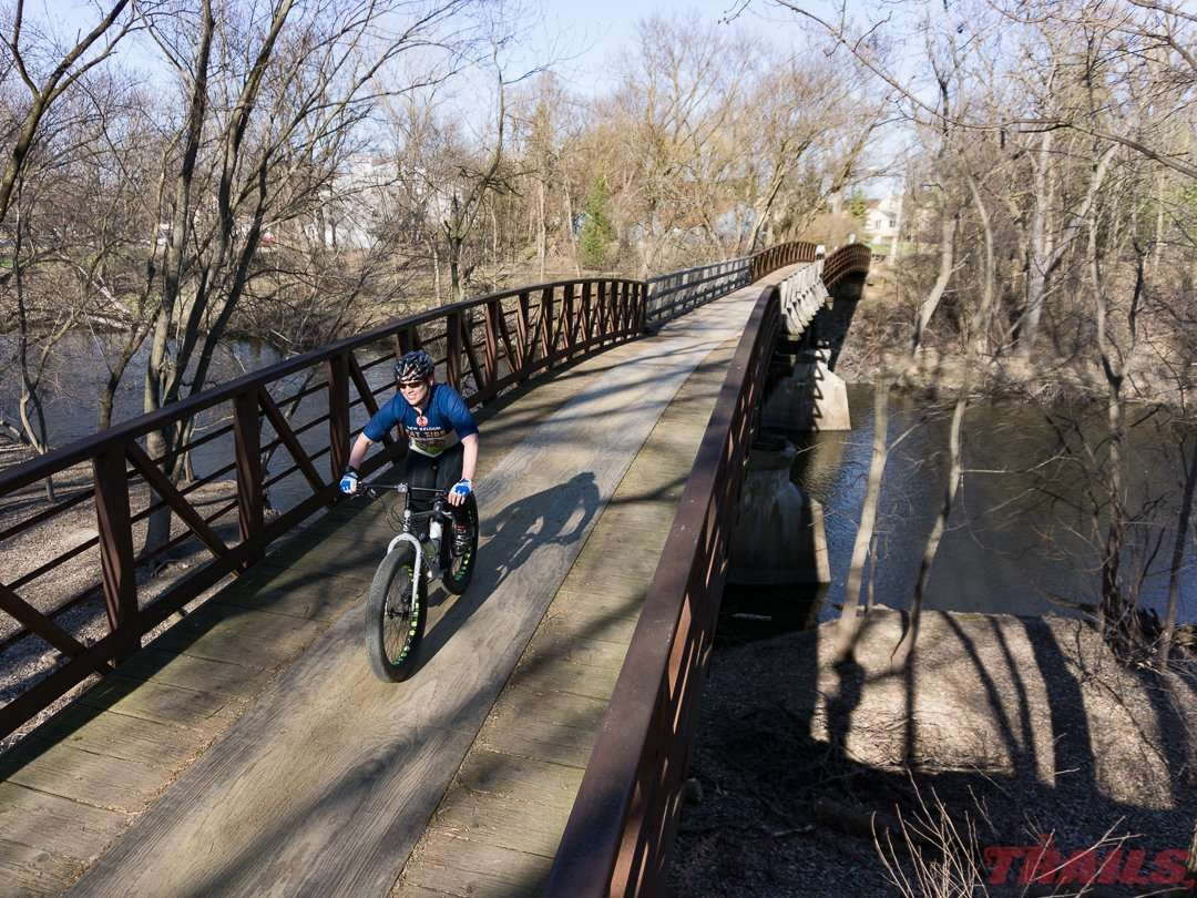 Crossing the south fork of the Crow River in Watertown on th Luce Line State Trail