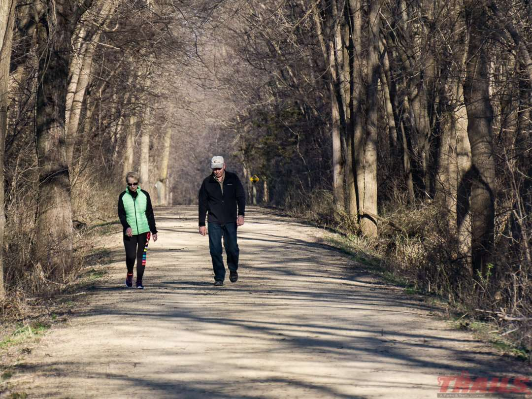 Local residents walk the trail near Watertown on the Luce Line State Trail