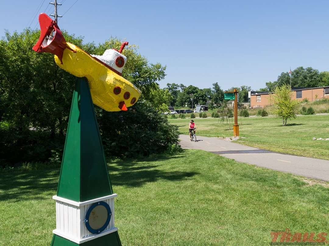 Art on display in Hutchinson on the Luce Line State Trail