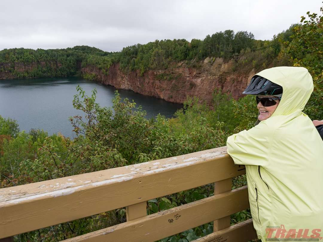 Even on a drizzly day, a stop at one of the many overlooks is a must on the Mesabi trail