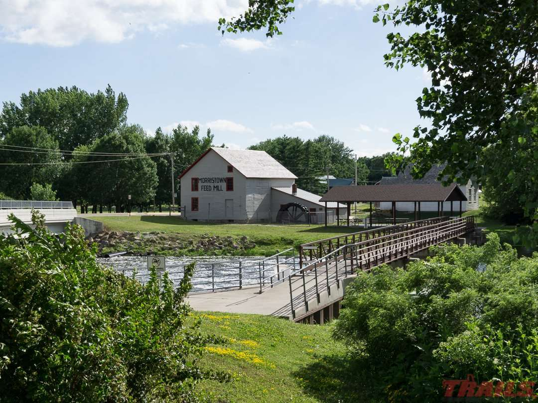 The historic 1855 Morristown Feed Mill on the Cannon River is run by the local Historical Society on the Sakatah Singing Hills State Trail