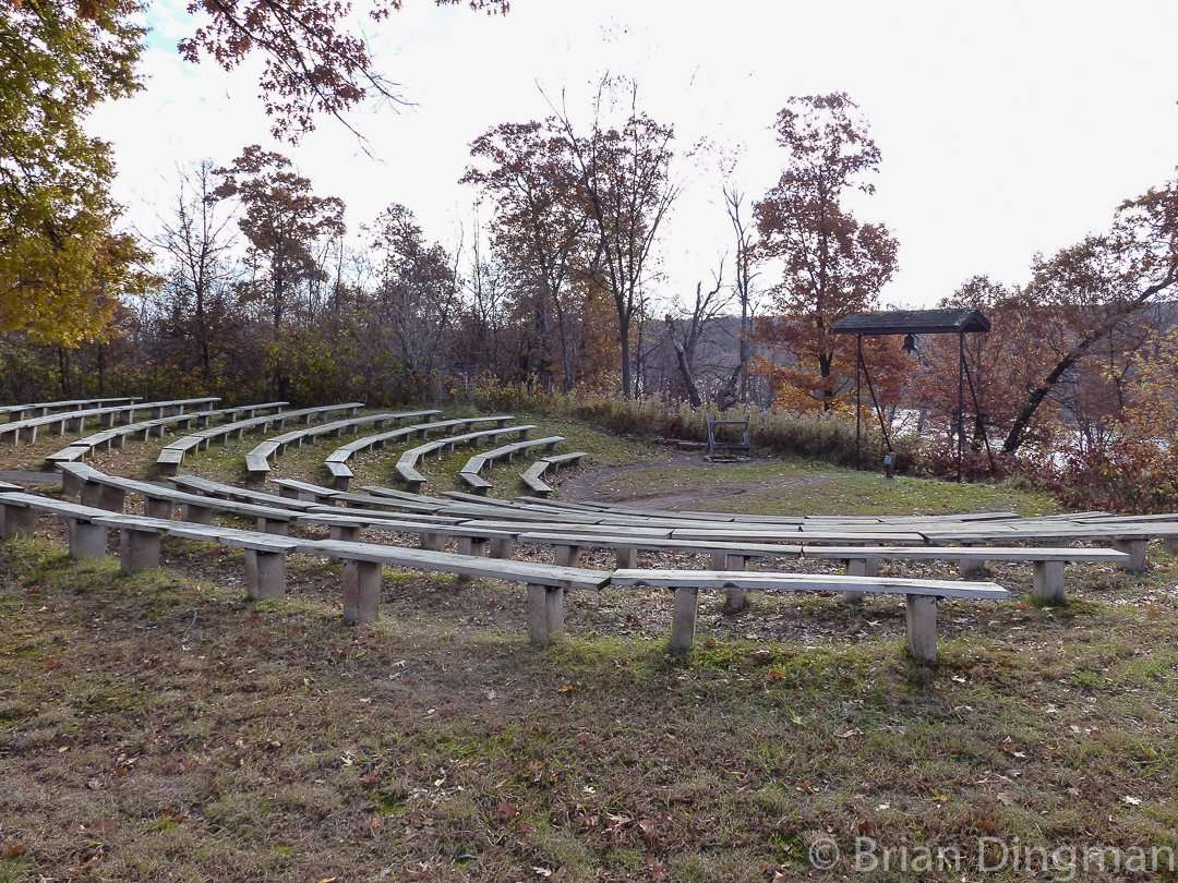 The amphitheater off Sundance Trail overlooks the St. Croix River at St. Croix State Park