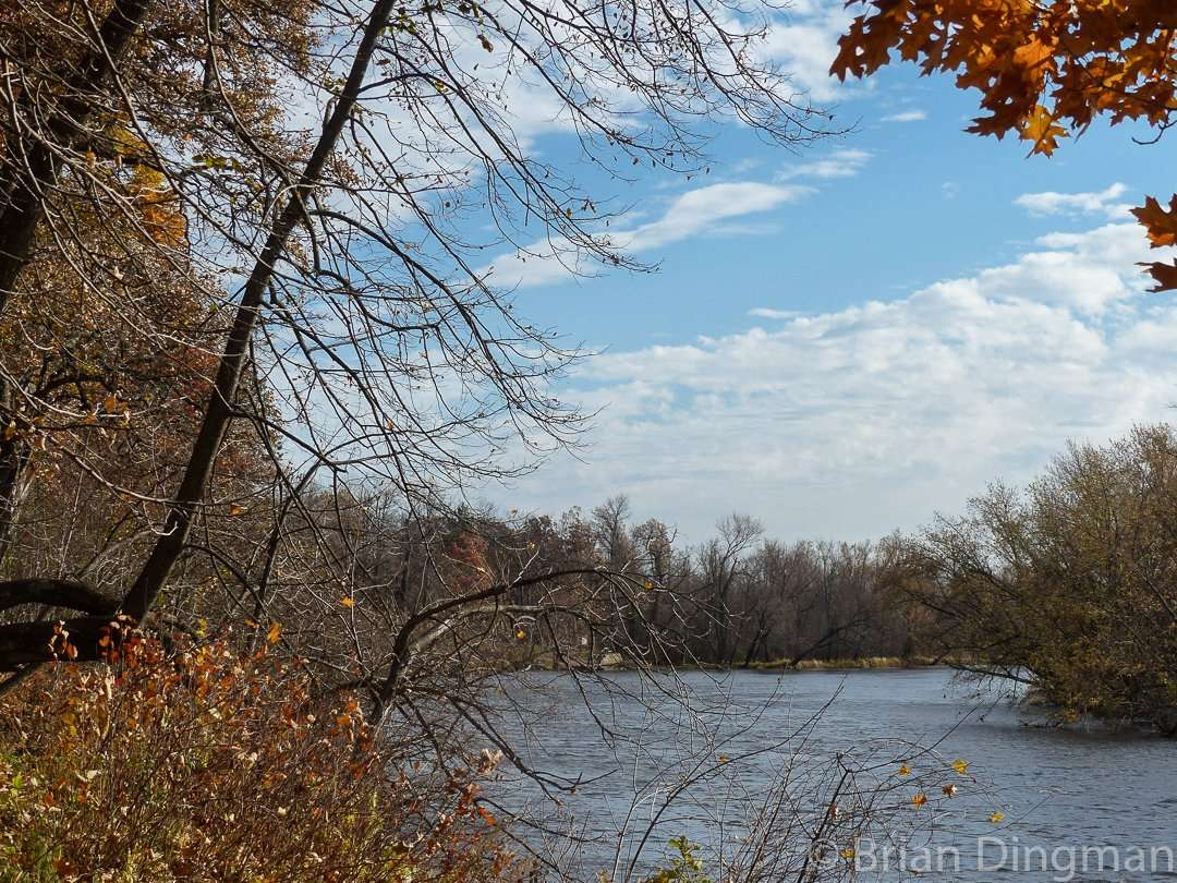 A fall view of the St. Croix River at St. Croix State Park
