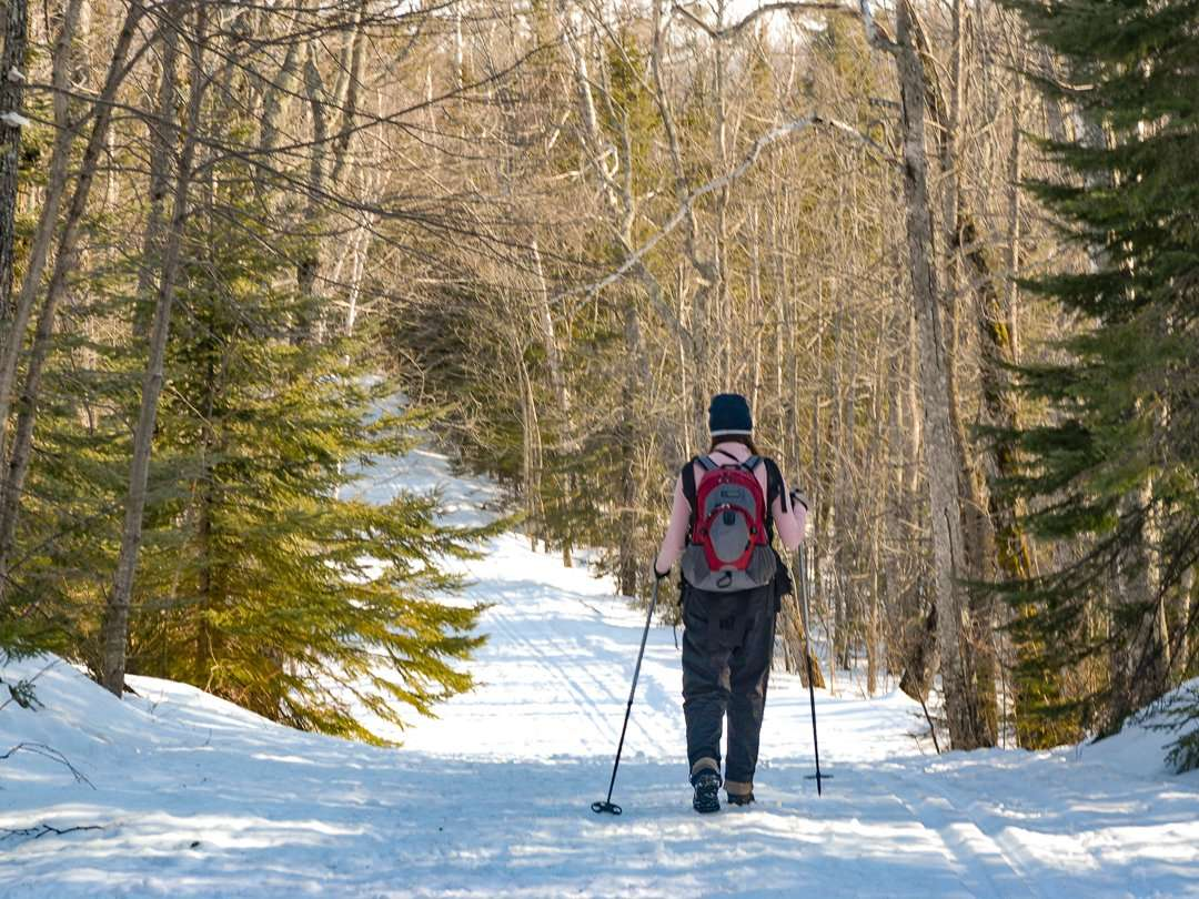 Exploring Tettegouche's trails in the winter