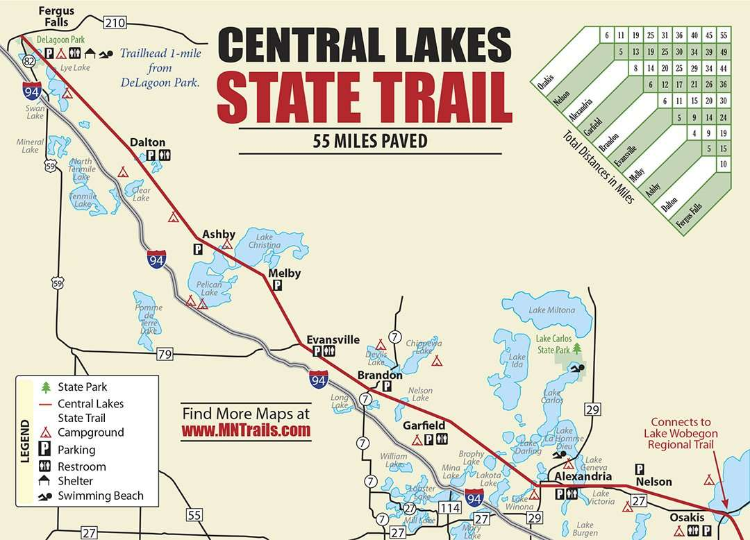 Central Lakes Trail Map