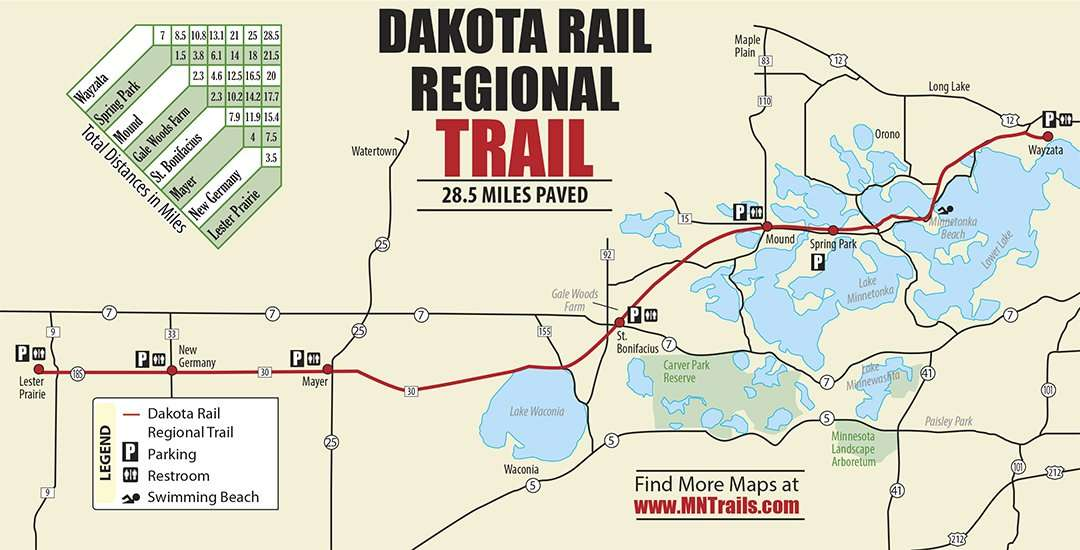 Dakota Rail Regional Trail Map