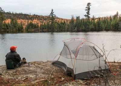 Campsite on Sock Lake on the Border Route Trail