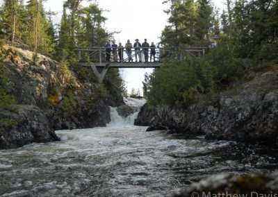 The Agamok bridge between Agamok and Mueller Lakes deep in the Boundary Waters on the Kekekabic Trail