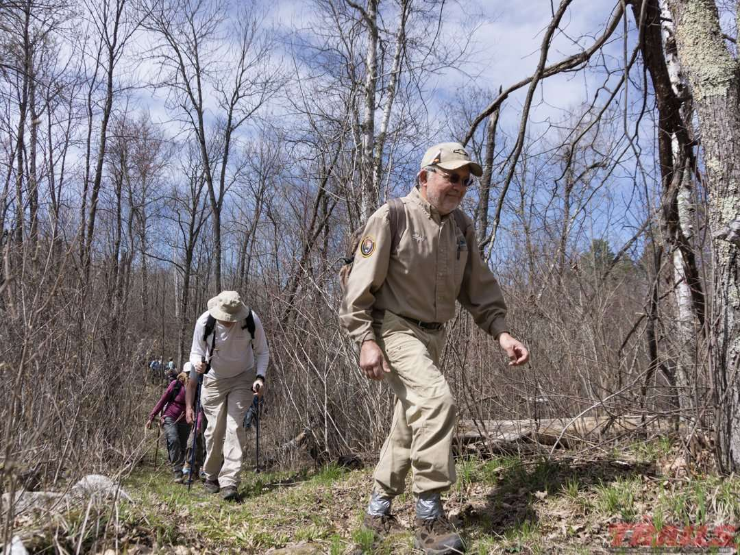 A spring hike led by North Country Trail volunteers
