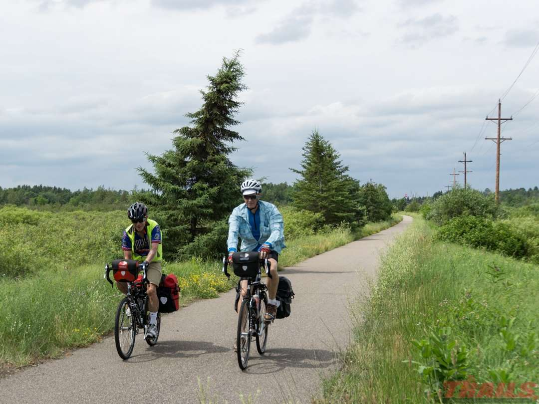 Near Pequot Lakes on the Paul Bunyan State Trail