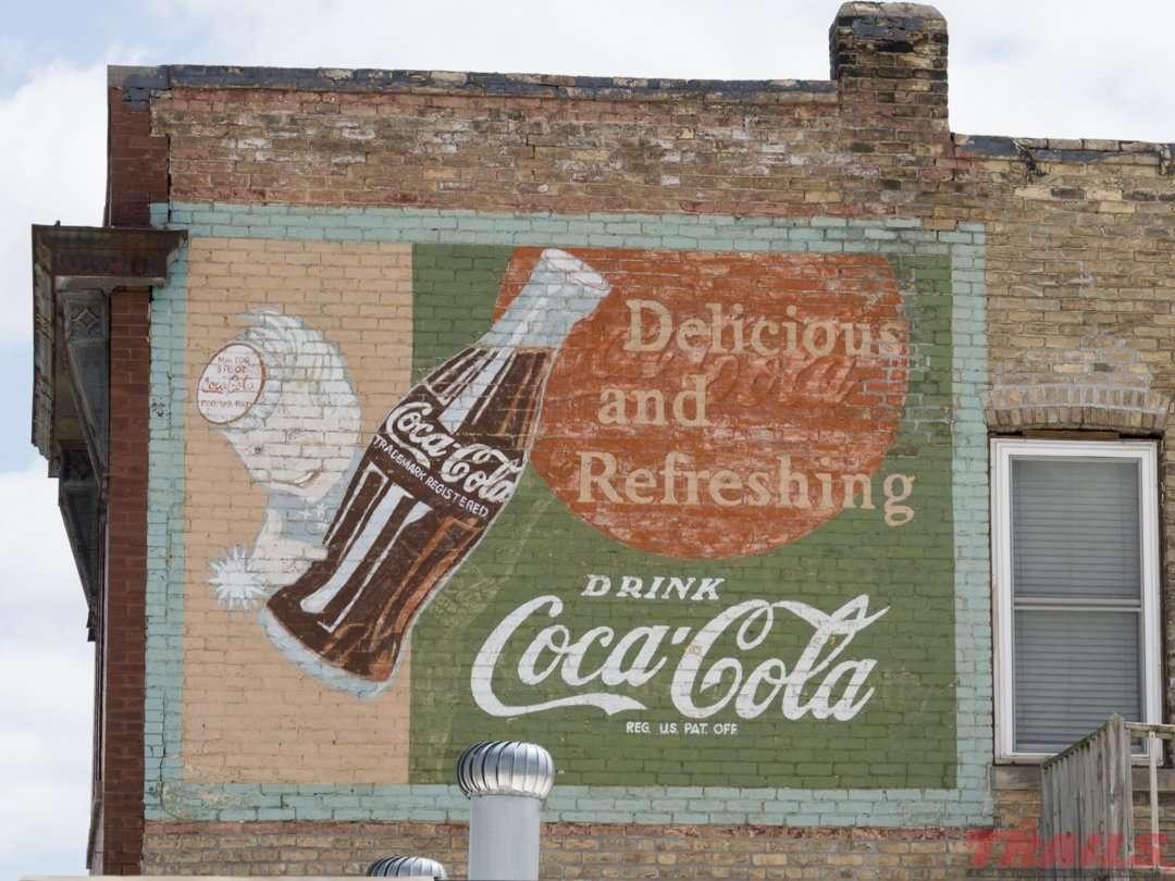 Advertising mural in North Branch on the Hardwood Creek Sunrise Prairie Trail