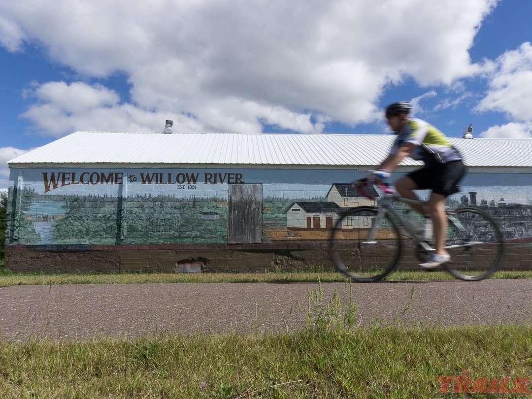 The Willard Munger Trail connects nine communities in northeastern Minnesota