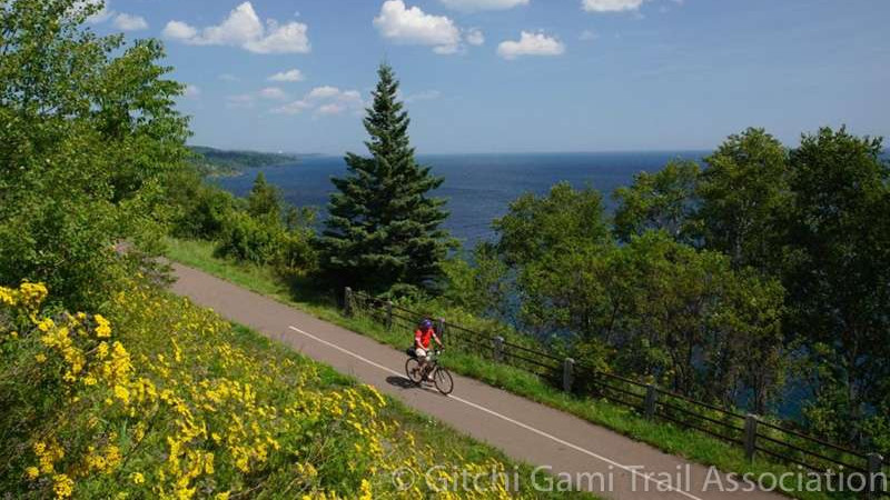 Spectacular views of Lake Superior on the annual Gitchi Gami Ride