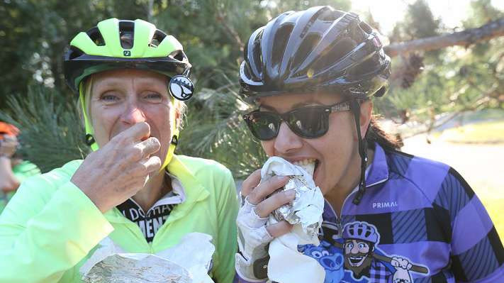 It's all about the bacon on this ride on the Paul Bunyan Trail in Minnesota