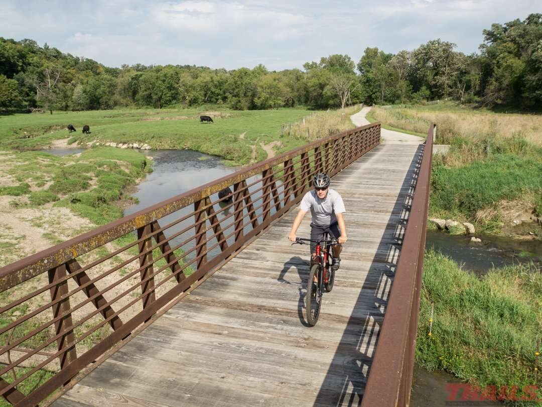 Bridge crossing near Preston, MN on the Harmony-Preston Valley State Trail
