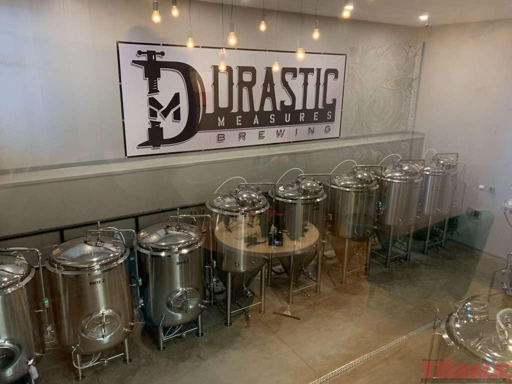Drastic Measures Brewing tanks