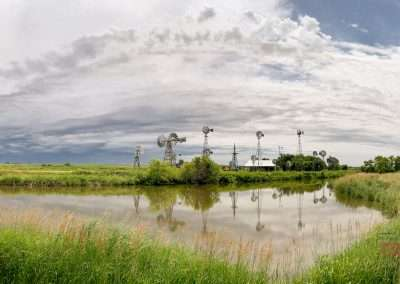 Collection of windmills near Jasper MN