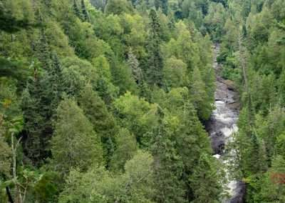 View of Cascade River from the Superior Hiking Trail