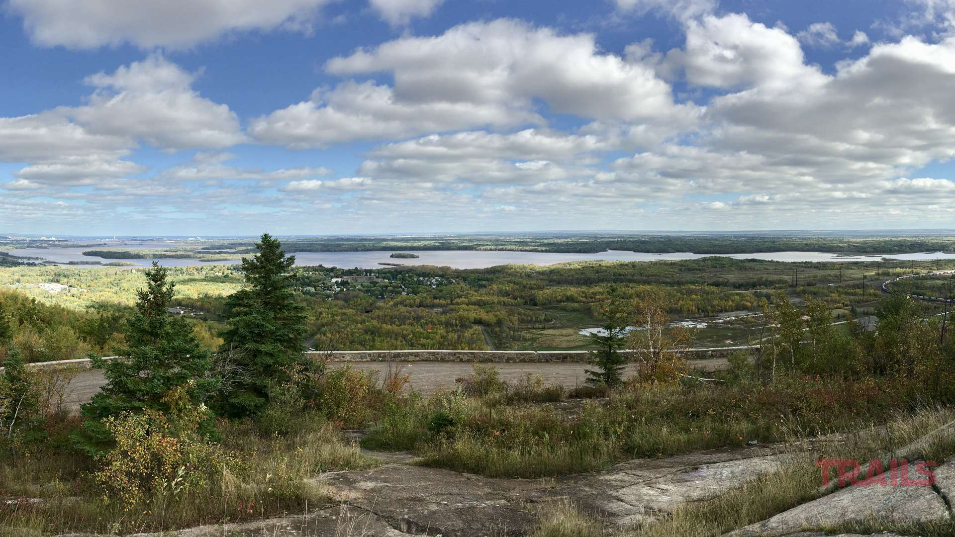 View of St.Louis River and Duluth from Bardon's Peak