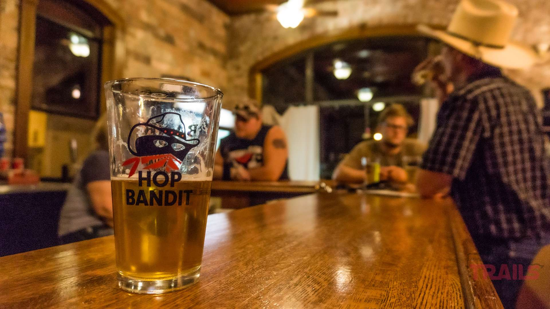 A pint of Hop Bandit Beer at Bank Brewing