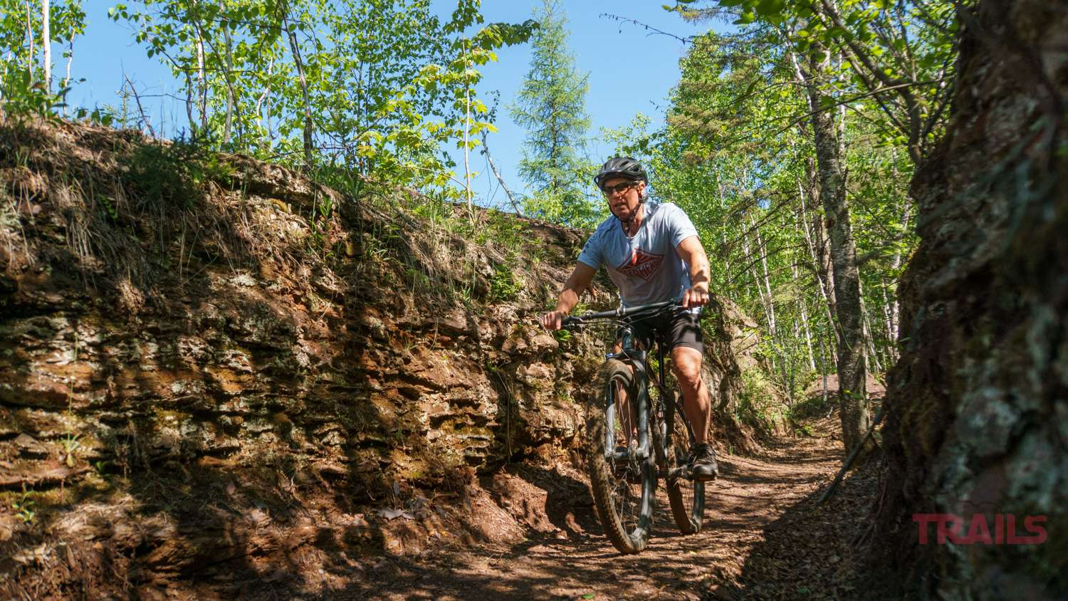 Mountain Biker on a path