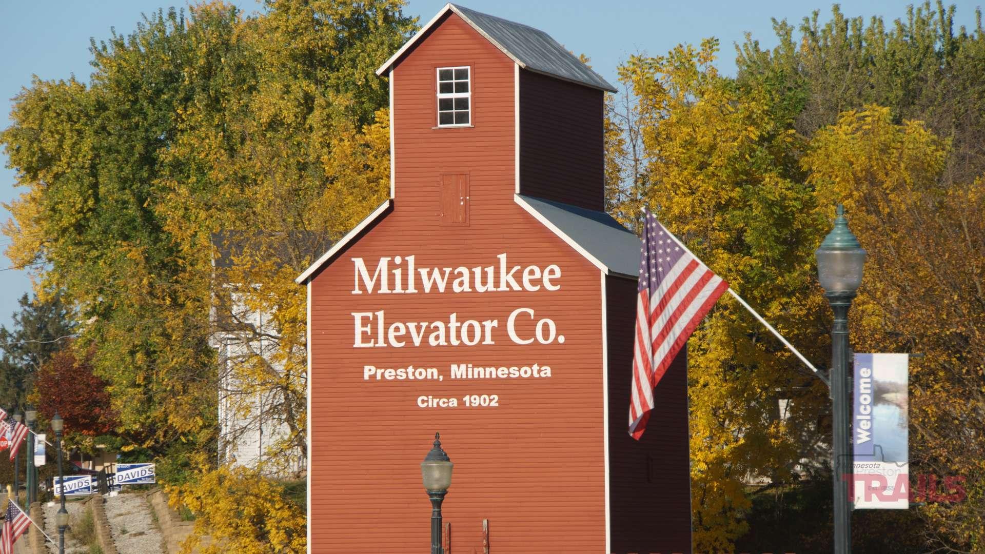 Historic grain elevator in Preston MN