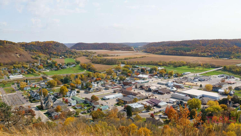 Aerial view of Rushford MN