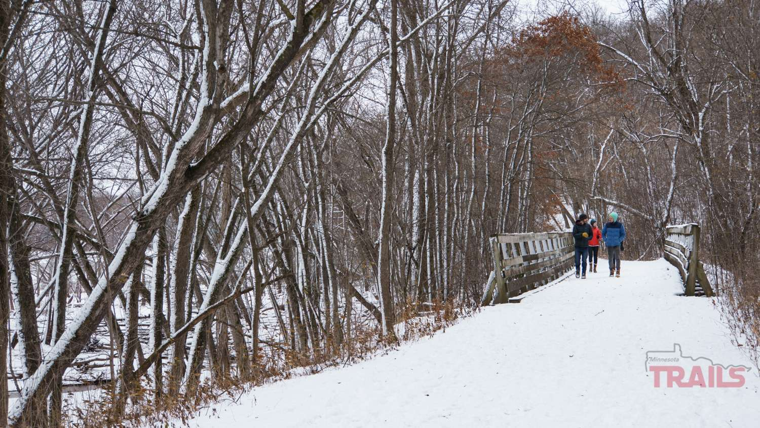 Winter hiking at Afton State Park