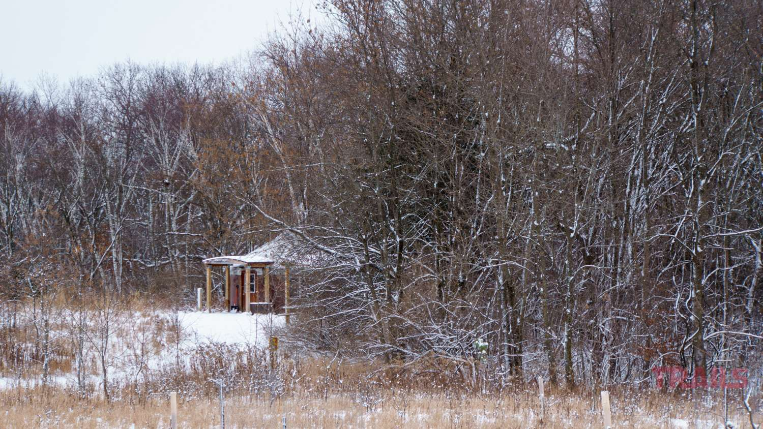 Yurt in the winter at Afton State Park