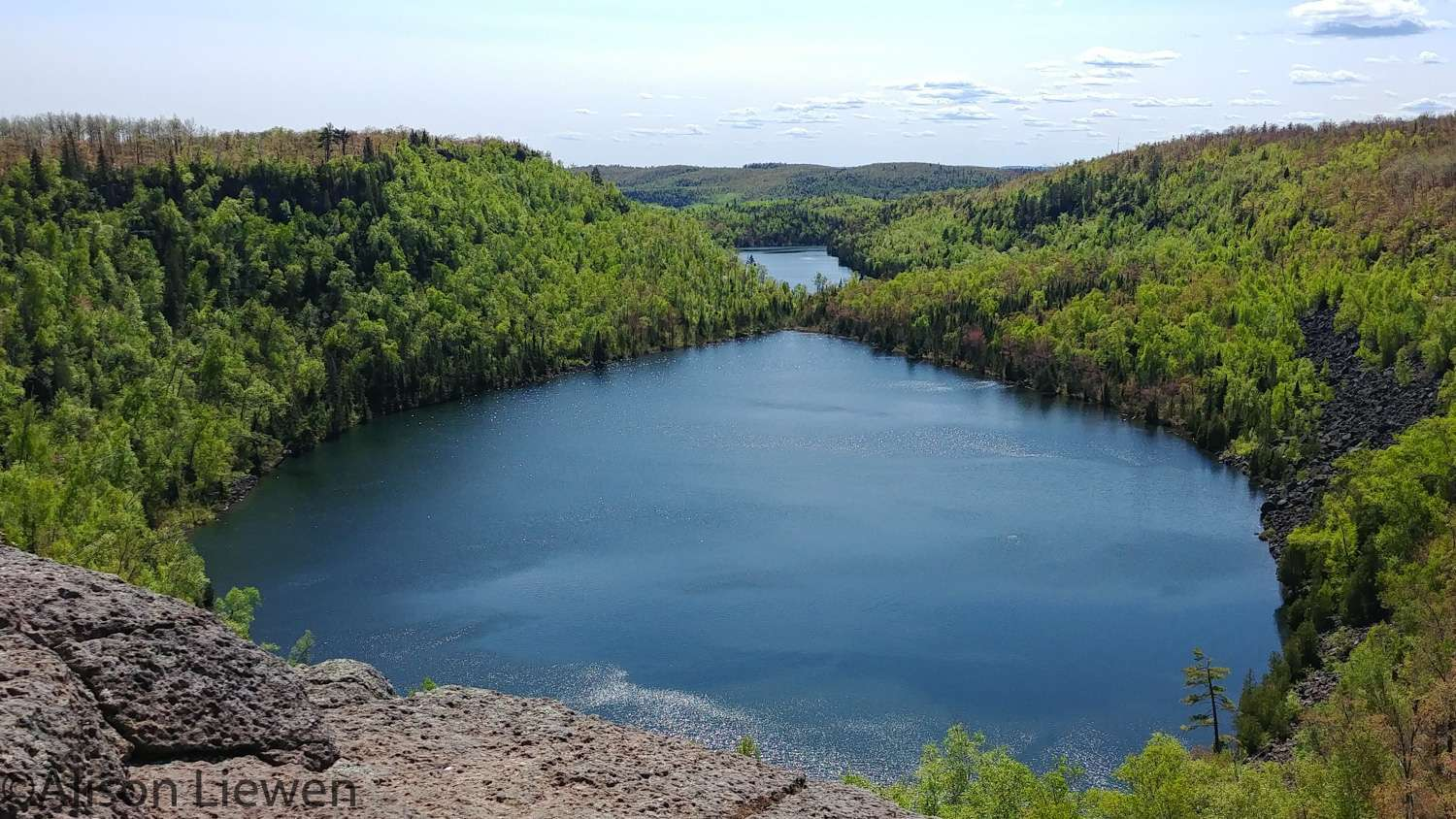 Bean and Bear Lakes on the Superior Hiking Trail