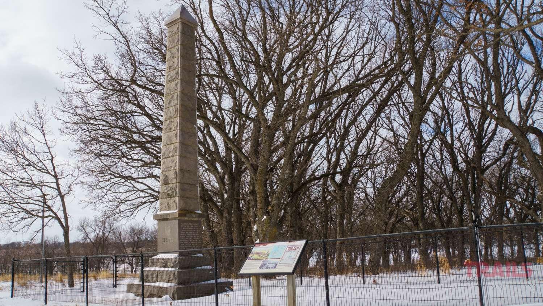 The Lake Shetek Monument obelisk