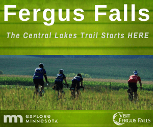 Fergus Falls is the gateway to the scenic Central Lakes State Trail