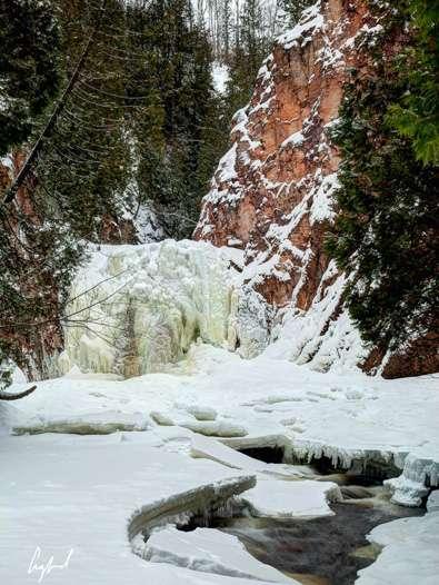 Minnesota Waterfalls: Barrier Falls on the Devil Track River