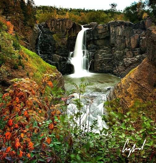 Minnesota Waterfalls-Hill Falls on the Pigeon River